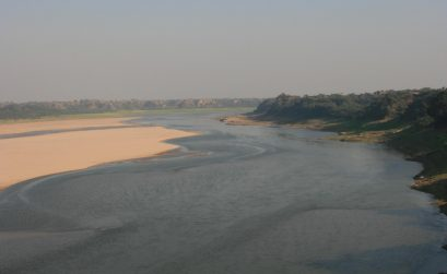 Chambal River at Sunset